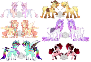 Mane Six Redesign Adopts [CLOSED] by LavvytheJackalope