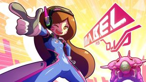 Mabel as D.Va by Mikeinel