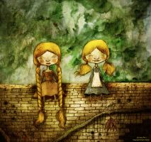 rapunzel and alice by berkozturk