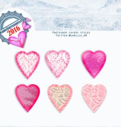 Lace Heart photoshop layer styles by cameliaRessources