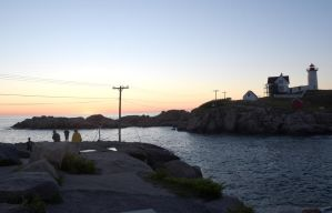 At Sunrise, Nubble Light 6 by Miss-Tbones