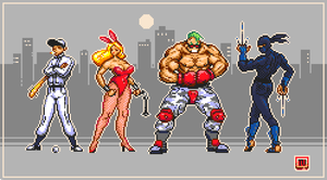 Pixel Dailies 09-10 Streets Of Rage X4 by TRUEvector