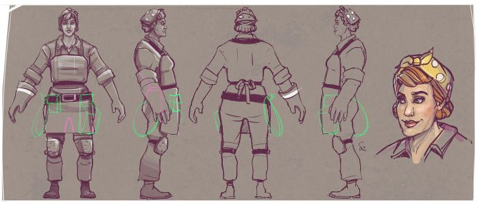 Female Engineer Concept by ChemicalAlia