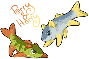 Perry the Perch and Harry the Herring by kr1st1naa
