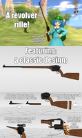 [MMD Accessory Download] - Revolver rifle by MasterOfHelium