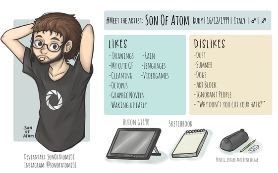 Meet The Artist :3 ~ Son Of Atom by SonOfAtom101