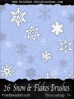 GIMP Snow and Flake Brushes by Project-GimpBC
