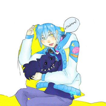 Aoba hiding behind your screen by shootingstarshooter