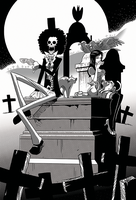 One Piece Brook and Robin Have Tea in a Graveyard by cpray