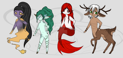 Fantasy Adopts (3/4 OPEN) by PersephoneValkar