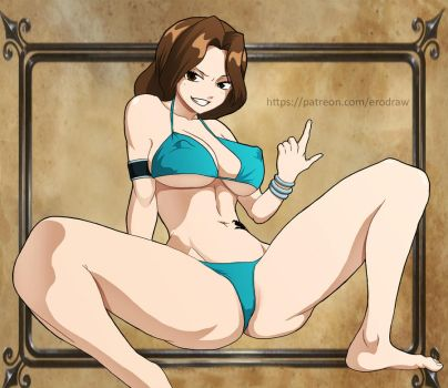Fairy tail: Cana Alberona by erodraw