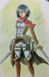 Mikasa - figure drawing practice by ArtsyMiaka