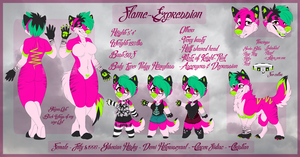 Fursona Ref by Flame-Expression