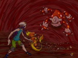 Battle of Lava Dome by Saku-Senpai