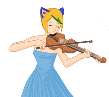 Casey Plays A Violin by bunkiecycles