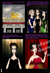 The abduction of Mona, page 1 by VampiraLady
