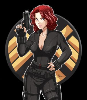 Natasha Romanoff-Black Widow by StudioKawaii