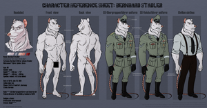 Character Reference Sheet: Bernhard Stadler by Amaryllex