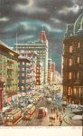 Vintage New York - Lower Broadway by Night by Yesterdays-Paper