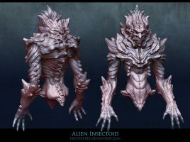 Alien Insectoid sculpt final by FirstKeeper