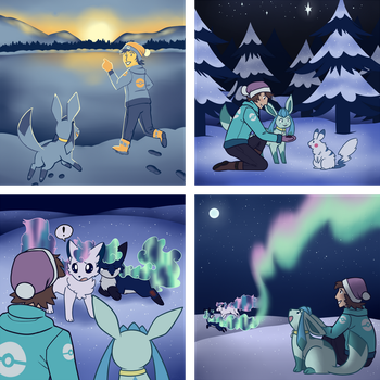 PKMNation February 2018 Event: Northern Lights by Lilliepup