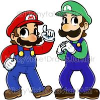 Mario and Luigi by VickyViolet