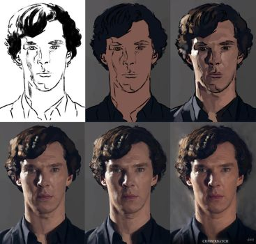 Benedict Cumberbatch Process Steps by Paganflow
