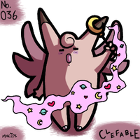 PKMNATHON 036 - Clefable by mopinks