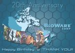 20th Birthday of BioWare by Dauganor