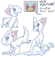 YCH Auction - Carnation Swirl Ears [CLOSED] by Nestly