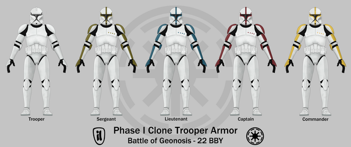 Phase I Clone Trooper Armor by graphicamechanica