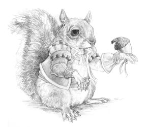 Hunting Acorns by ursulav