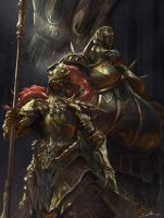 Dragon Slayer Ornstein and Executioner Smough by Ron-faure