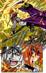 Kenshin vs Shishio Scan Color by l3xxybaby