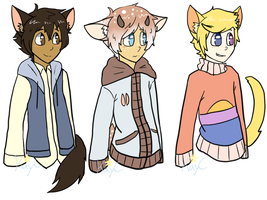 Cheap Kemonomimi adopts 4 (Closed) by KayC-Adopts