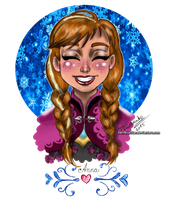 Anna's big grin by DaniBlueStar