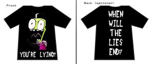 Invader Zim T-Shirt Design 3 by KrystalMelodie