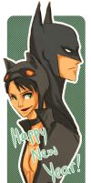 bat and cat by limegreenmuse