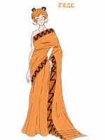 Rule 63 hobbes in a Sari dress by jjjjoooo1234