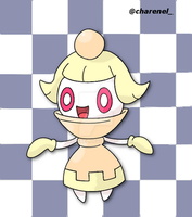 Chespawn white (fakemon) by Charenel