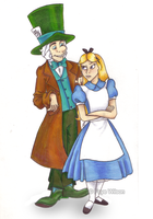 Alice and Mad Hatter: Poke by Violet--Gypsy