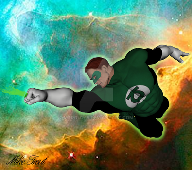 Green Lantern in space by mtrout65