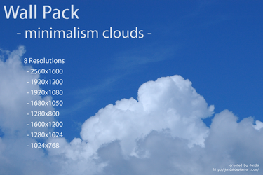 Wall Pack -minimalism clouds- by Jundai