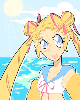sailor beach by msdeerborn