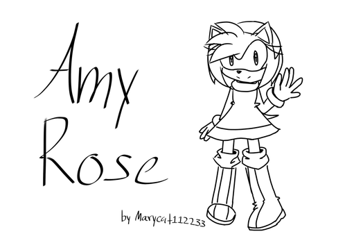 Amy rose by Marycat112233