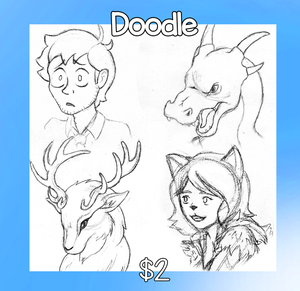 $2 Doodles! by KTechnicolour