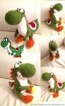 classic Yoshi Plushie by MissNeens