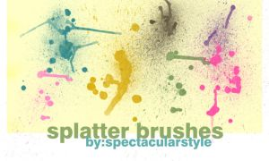 splatter brushes set 01 by spectacularstyle