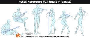 Poses Reference #14 (male + female) by Anastasia-berry