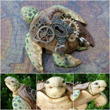 Steampunk Sea Turtle Sculpture by MysticReflections